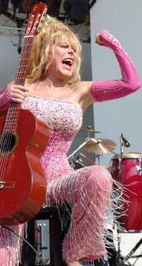 Charo in Concert in New York 8-30-04 - photo by RJ